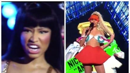 """""""Putt***"""": Nicki Minaj insulta in diretta Miley Cyrus"""