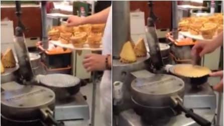 Ecco come vengono realizzati i coni gelato artigianali
