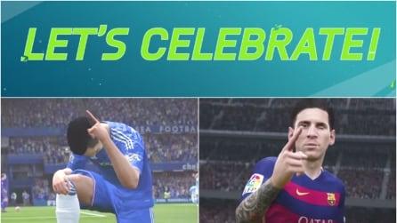 L'esultanza del goal: Fifa 16 importa le celebrazioni dei più grandi fuoriclasse