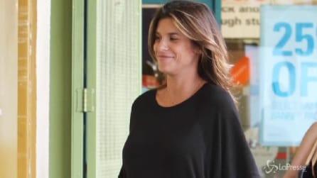 Elisabetta Canalis si rilassa prima del parto: shopping a Los Angeles
