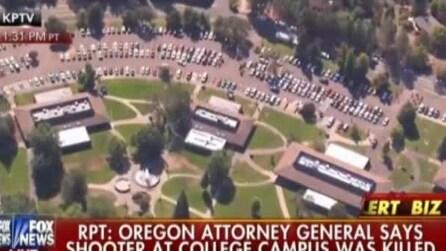 Sparatoria in Oregon: le immagini aeree del luogo della strage