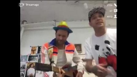Jovanotti e Clementino insieme a New York cantano i loro successi