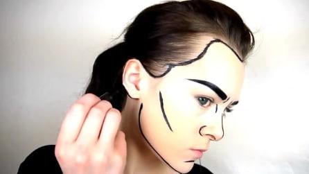 Si disegna strane linee nere sul viso: il risultato finale vi farà impazzire
