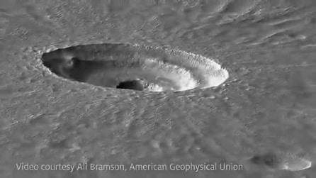 """Un enorme cratere su Marte. L'ultima incredibile scoperta del """"Pianeta Rosso"""""""