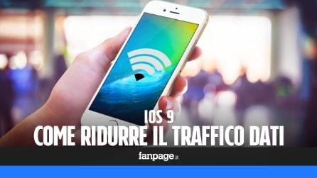 Come ridurre il traffico dati in iOS 9