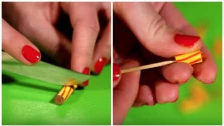 Taglia un pastello in tanti piccoli pezzi ed ecco in cosa lo trasforma