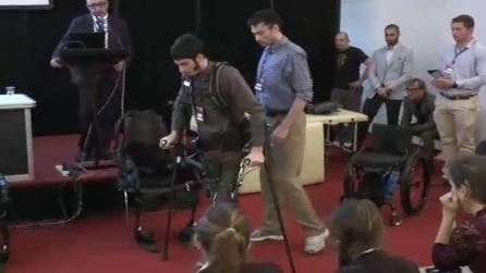 """Ferrara, presentati i """"pantaloni bionici"""": persone affette da paralisi ritornano a camminare"""