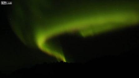Norvegia, l'aurora boreale lascia senza fiato