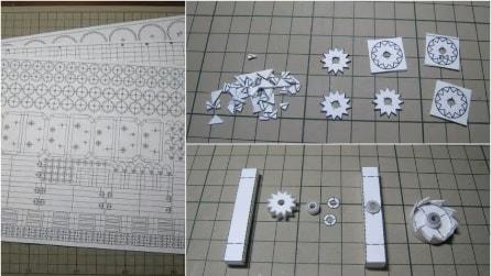 Con della semplice carta riesce a creare un robot che cammina da solo