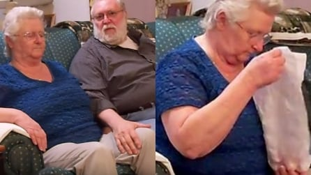 """""""Nonna, chiudi gli occhi!"""". Quando arriva il suo regalo non può trattenere le lacrime"""