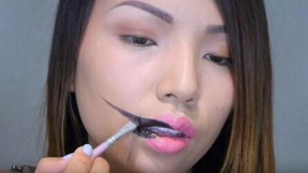 Traccia una linea nera sul volto: vi stupirete del risultato finale