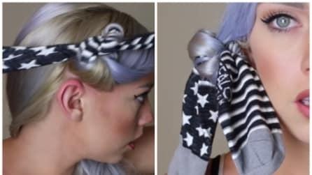 Mette un calzino nei suoi capelli: il trucco è geniale