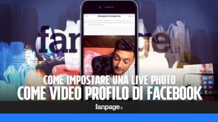 Come impostare una Live Photo come video del profilo in Facebook