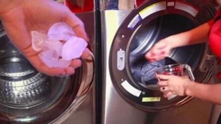 Mette il ghiaccio nell'asciugatrice: dopo 5 minuti vi stupirete del risultato