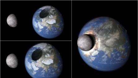 Ecco cosa accadrebbe se la Luna colpisse la Terra
