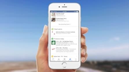 Facebook annuncia una nuova funzionalità per le app: ecco le schede in stile Google Now