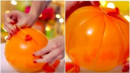 Avvolge un nastro attorno al palloncino: ecco cosa crea in pochi secondi
