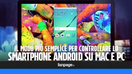 Come controllare lo smartphone Android dal Mac o dal PC