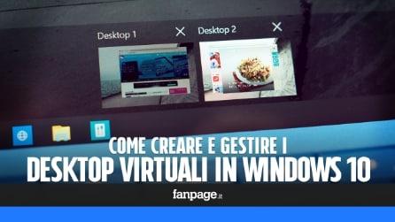 Come creare e gestire i desktop virtuali in Windows 10