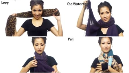 25 modi diversi di indossare una sciarpa
