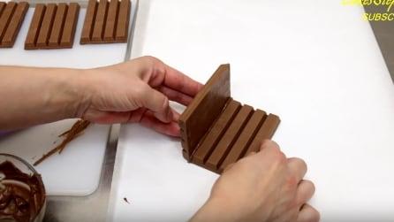 Incolla due tavolette di Kit-Kat in questo modo: l'idea super creativa