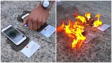 Brucia un iPhone 6 e un Galaxy S5: quando scoprirete il motivo resterete sorpresi