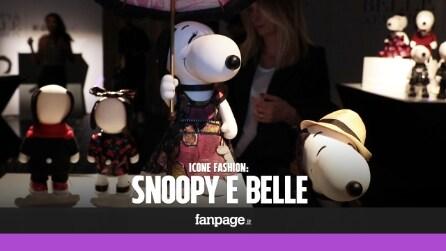 """""""Snoopy & Belle"""" icone fashion: in mostra i Peanuts vestiti dall'alta moda"""