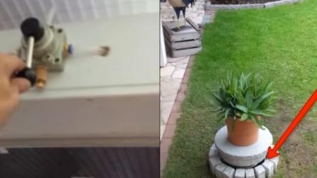 Quando aziona la leva il vaso si solleva: non immaginerete mai cosa si nasconde sotto