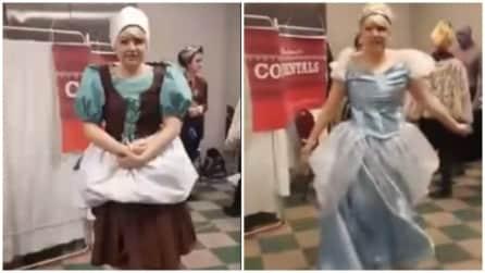 """La trasformazione di Cenerentola: diventa """"principessa"""" in pochi secondi"""