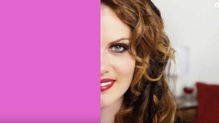 Trucca solo metà viso: l'incredibile potere del make up