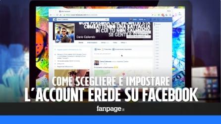 Facebook: come scegliere l'account erede