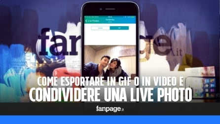 Esportare e condividere una Live Photo come GIF o come video