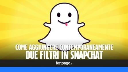 Come combinare i filtri in Snapchat e aggiungerne due contemporaneamente