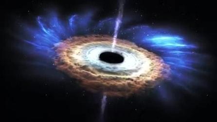 Cosa succede quando un buco nero disintegra una stella? La spettacolare simulazione della Nasa