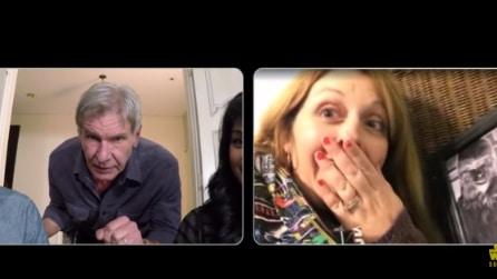 Sorpresa per i suoi fan: Harrison Ford appare su Skype