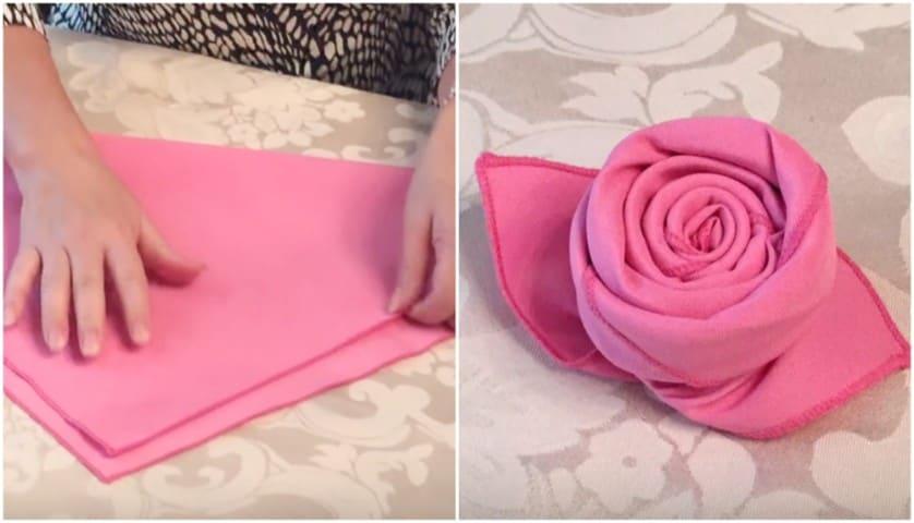 tra qualche giorno il più economico più foto Ecco come piegare un tovagliolo a forma di rosa in pochi secondi
