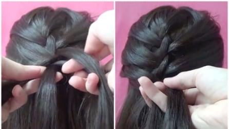 Intreccia i capelli in questo modo: la pettinatura principesca