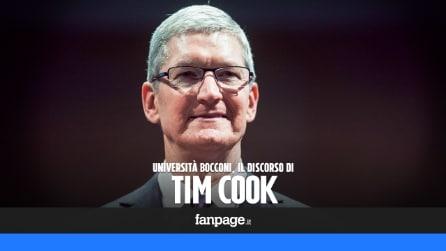 """Tim Cook all'Università Bocconi di Milano: """"Potete cambiare il mondo"""""""