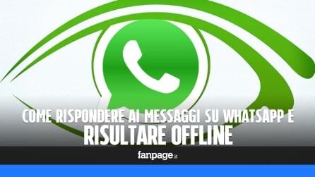 WhastApp Messenger: rispondere ai messaggi e risultare offline