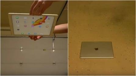 Il test per calcolare la resistenza di un iPad Pro