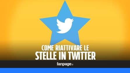 Come riavere le stelline in Twitter