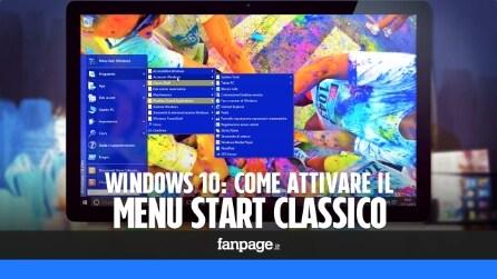 Windows 10: come attivare il menu Start classico di Windows XP e Windows 7