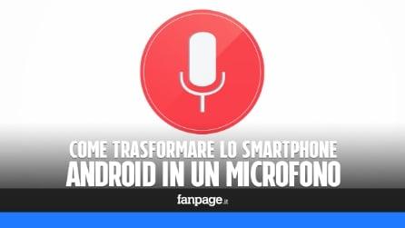 Utilizzare uno smartphone Android come microfono per Mac o Windows
