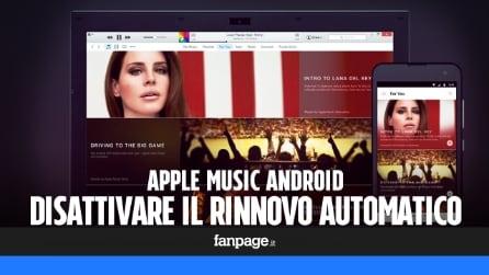 Apple Music Android: come disattivare il rinnovo automatico