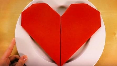 Come piegare il tovagliolo a forma di cuore: l'idea perfetta per una cena romantica