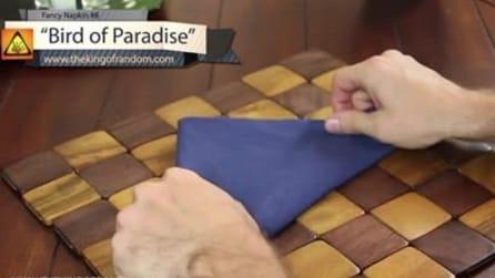 Cria um formato quadrado com um guardanapo: você não vai acreditar no que obtém