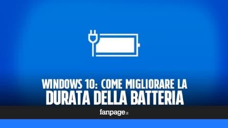 Windows 10: come migliorare la durata della batteria