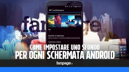 Come impostare uno sfondo diverso per ogni schermata Android