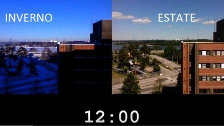Il timelapse straordinario che mette a paragone un giorno d'estate con uno d'inverno