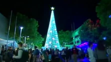 518.838 luci scintillanti: inaugurato l'albero più luminoso del mondo, ecco dove si trova